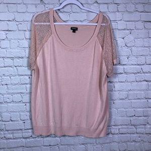 Torrid Size 2 Lace Cap Sleeves Shirt